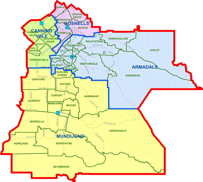 Armadale District map