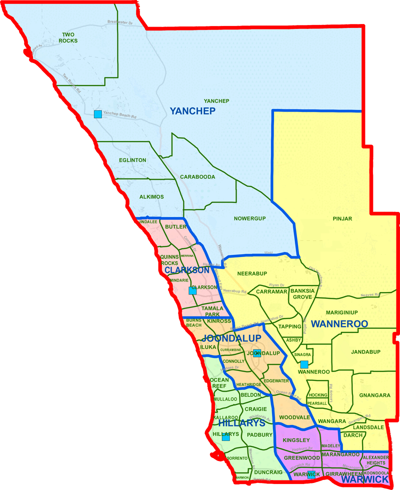 Joondalup District map