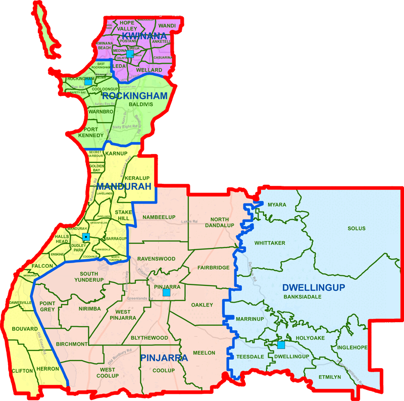 Mandurah District map