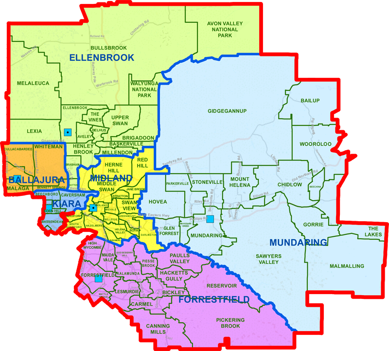 Midland District map