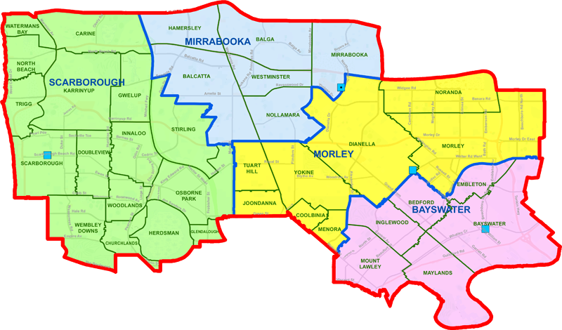 Mirrabooka District map
