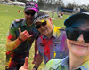 Three officers at the Colour Run