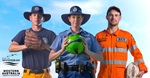 Police and Emergency Service people with sporting gear