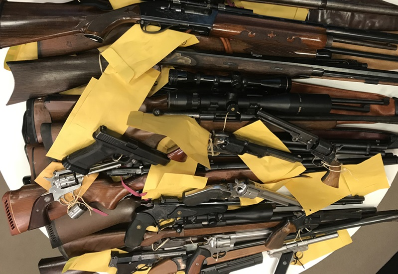 Firearms seized during Operation Bluesun