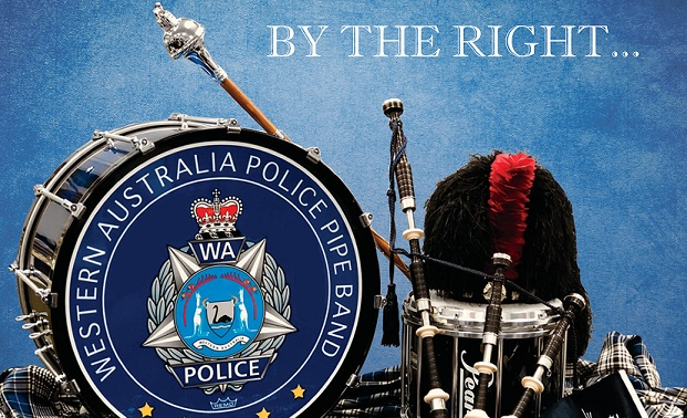 By the right... the WA Police Pipe Band album