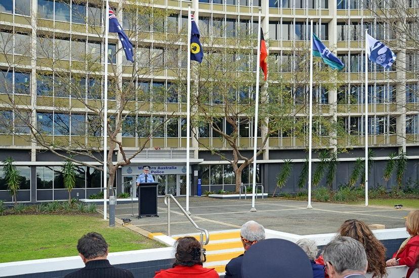 Commissioner Chris Dawson speaking at the WA Police Force NAIDOC Week Ceremony