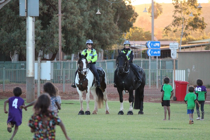 Police Horses visit Newman oval