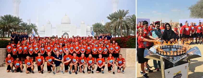 Law Enforcement Torch Run participants in Abu Dhabi