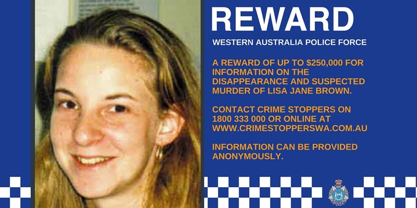 Lisa Brown Reward poster