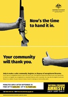 National Firearms Amnesty poster
