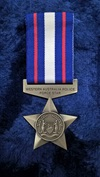 A star shaped medal