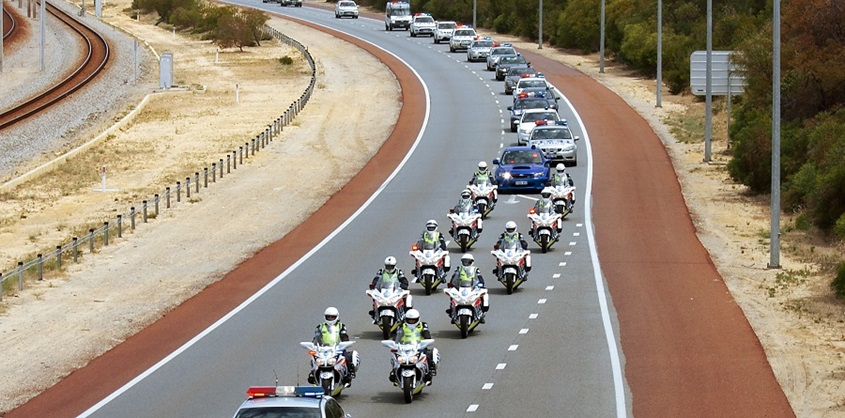Police traffic formation