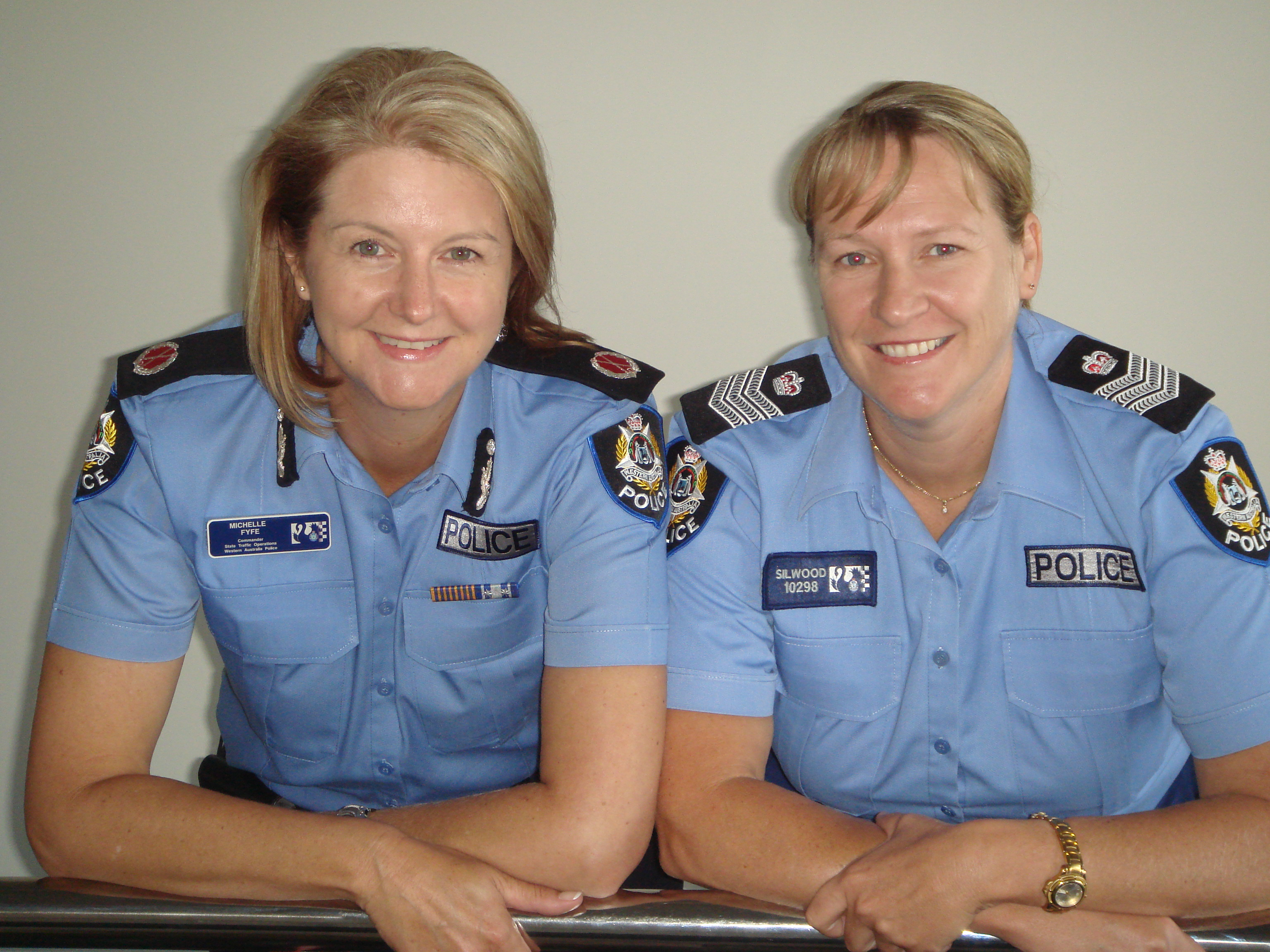 Erica Silwood with Assistant Commissioner Michelle Fyfe