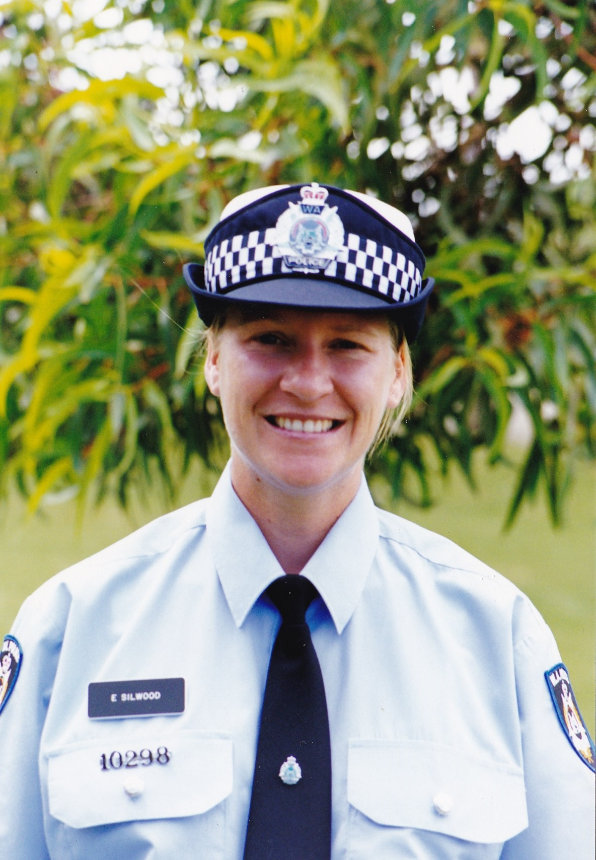 Erica Silwood on her graduation day with WA Police