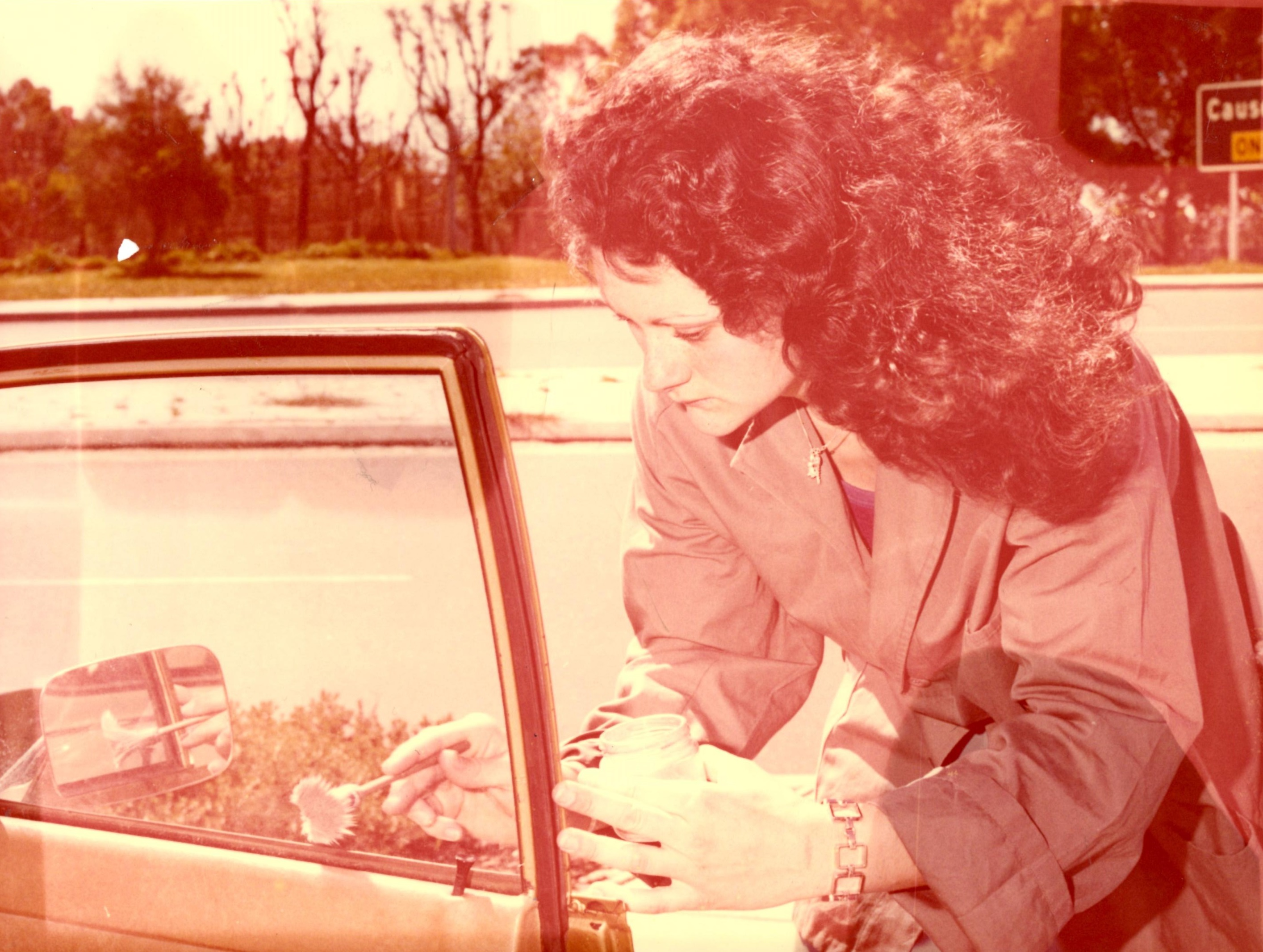 Alida SCOTT - 1977 first forensic cadet fingerprinting vehicle