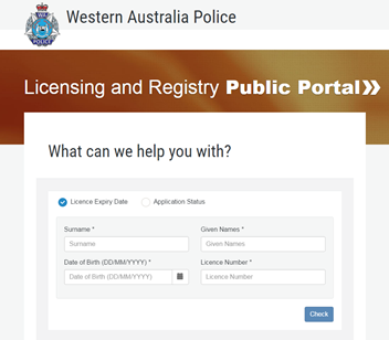 Licensing and Registry Public Portal