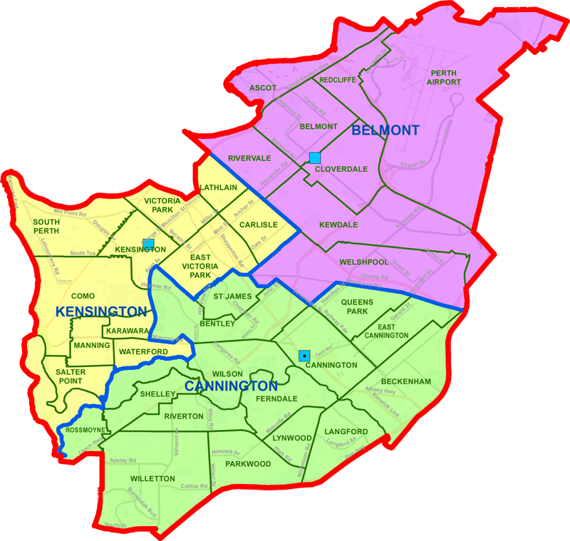 Cannington District map
