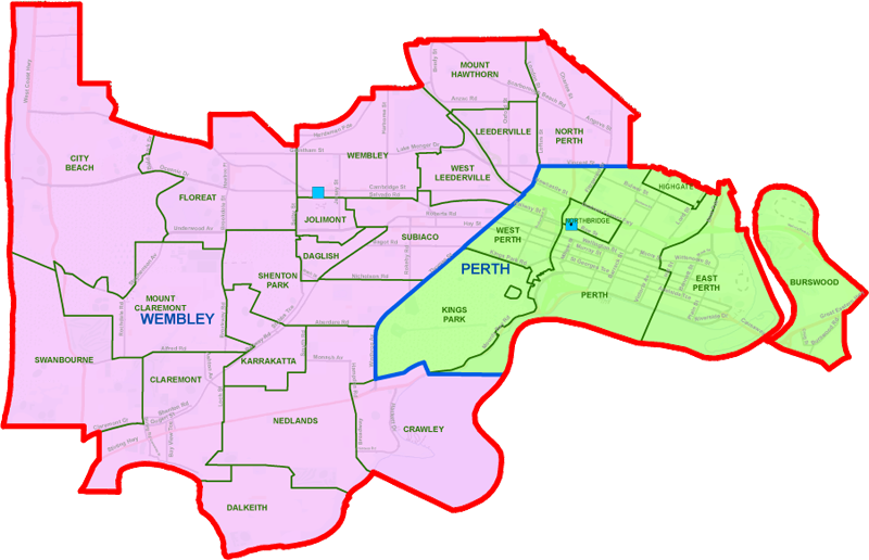 Perth District map