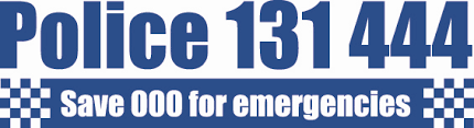 Police 131 444. Save 000 for emergencies.