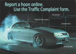 Reporting hoon behaviour (traffic complaints) | Western