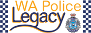 WA Police Legacy logo including WA Police Force logo shield and checkers running down either side.