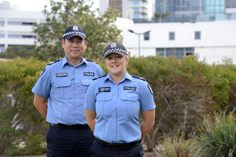 Two officers in uniform
