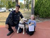 Police officer with Lily-Anne and police dog Quokka
